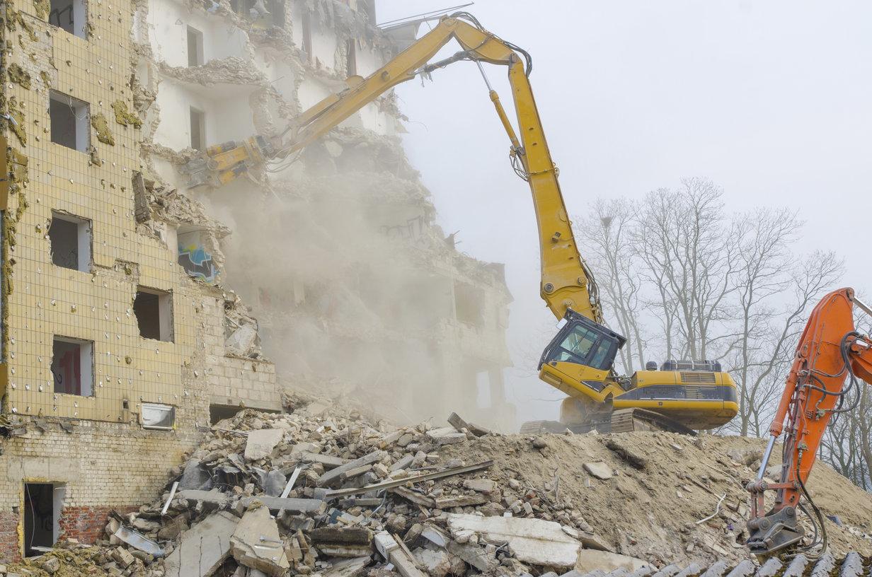 Methods Of Masonry Demolition In Maryland Pusher Arm