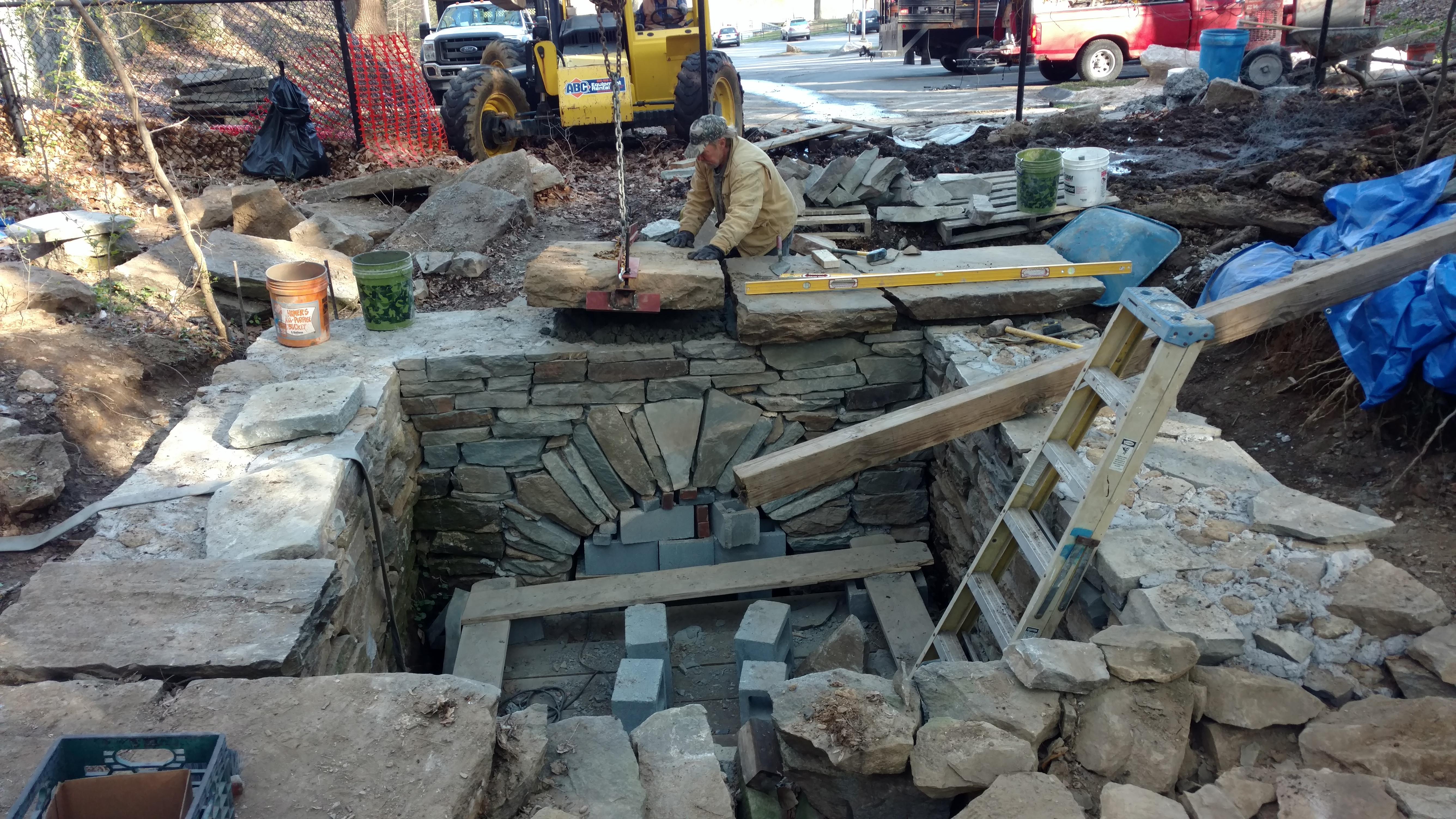 stone stormwater basin