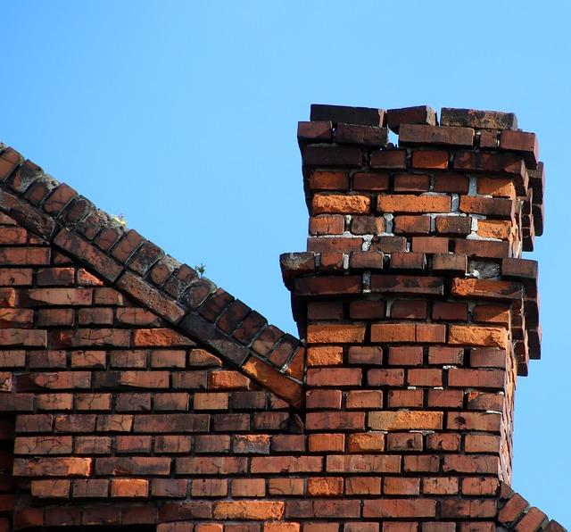 repairing a crumbling chimney